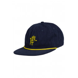 Dustam 6 Panel Cap Navy Gold