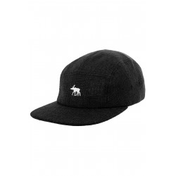 Moosam 5 Panel Cap Black Linen